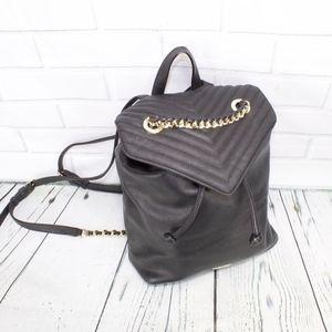Victoria's Secret Faux Black Leather Backpack Bag